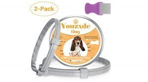 Youzxde Flea and Tick Collar for Dogs with Flea Comb